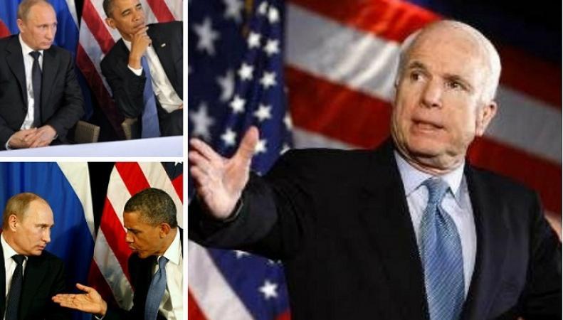 Маккейн заявил, что Обама не должен был встречаться с Путиным