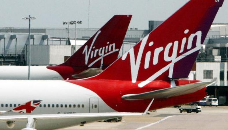 самолеты в ливрее Virgin