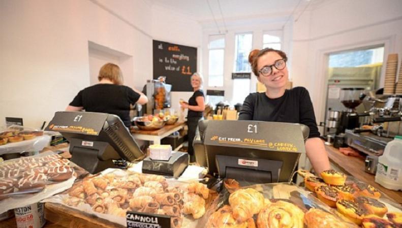 В Лондоне появилось кафе, где все стоит один фунт
