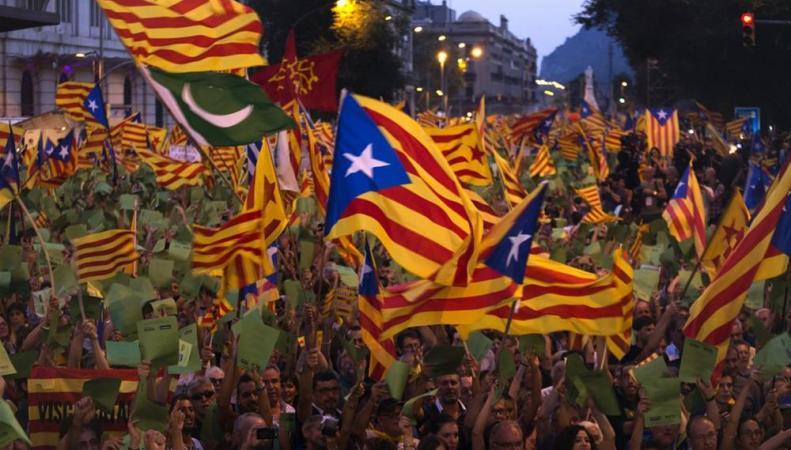 Каталония, шествие 11 сентября 2014 года