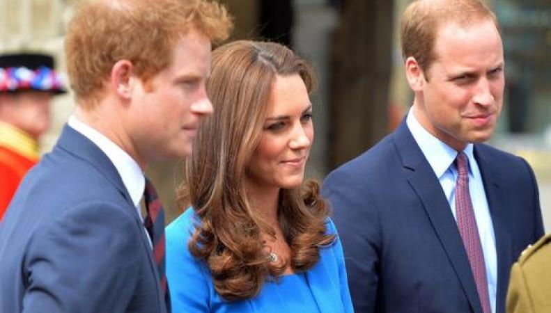 Принц Уильям, принц Гарри и Кейт
