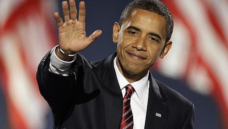 Компьютерный Обама станцевал на фоне горящего майдана