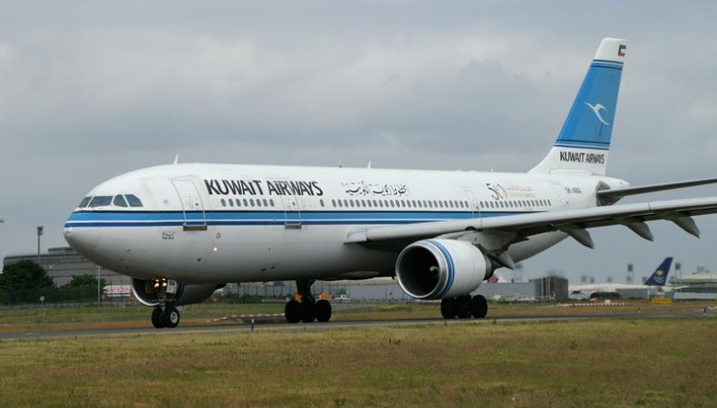 Самолет кувейтской авиакомпании Kuwait Airways
