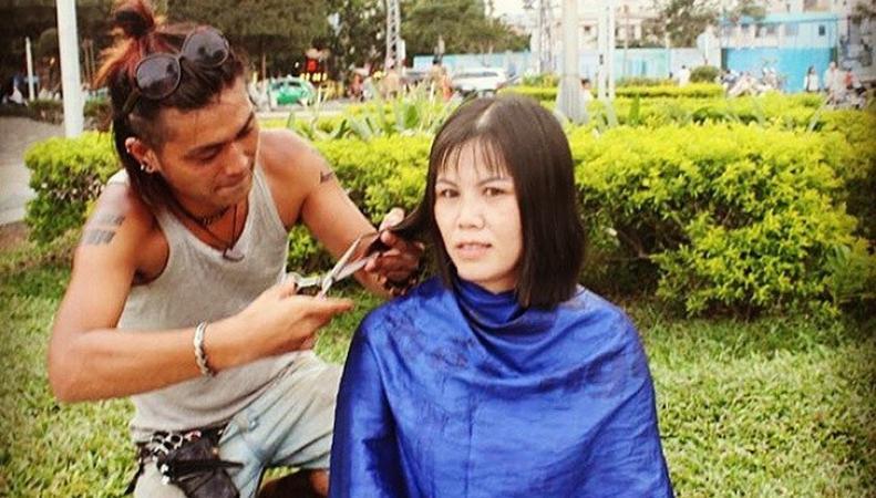 Парикмахер из Японии Юн Кувабара