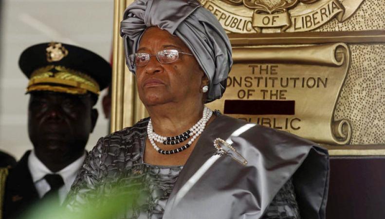 Президент Либерии Эллен Джонсон-Серлиф.