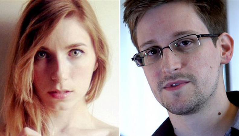 Линдси Миллс и Эдвард Сноуден
