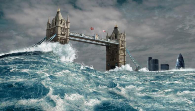 визуализация наводнения в Лондоне