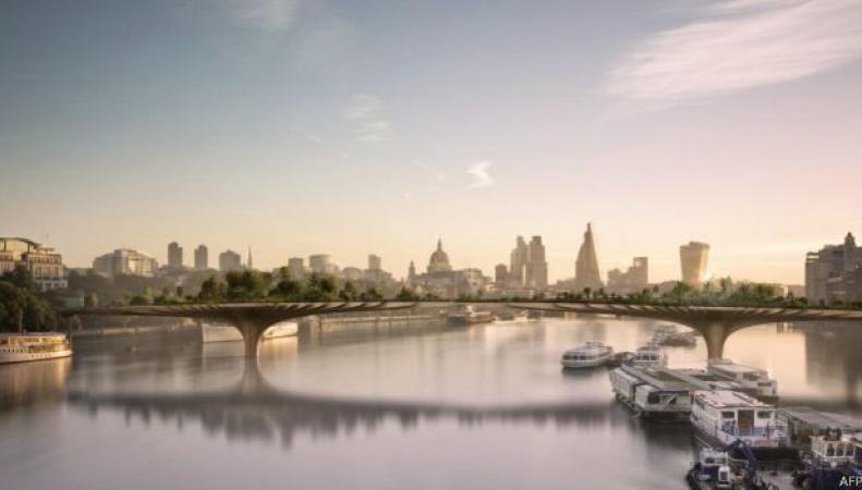 Мост-сад через Темзу в Лондоне