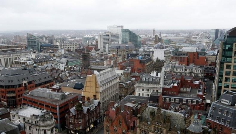 Манчестер с высоты птичьего полета