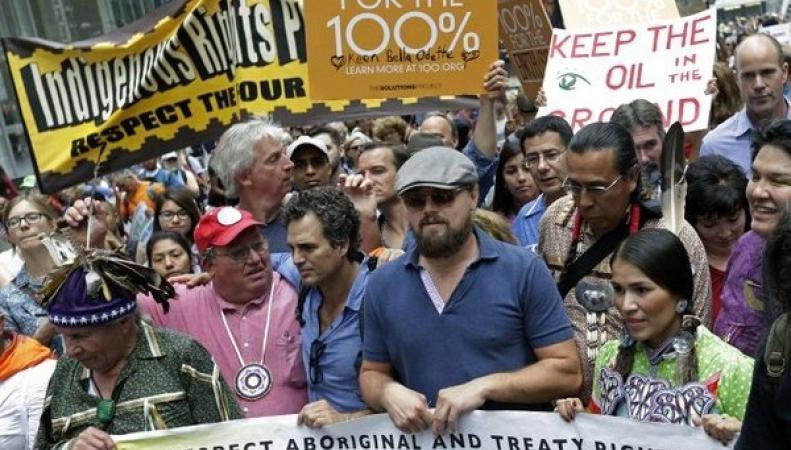 Леонардо Ди Каприо на Народном климатическом марше