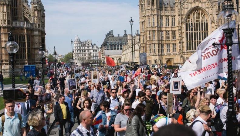 Бессмертный полк в Лондоне, 9 мая 2016
