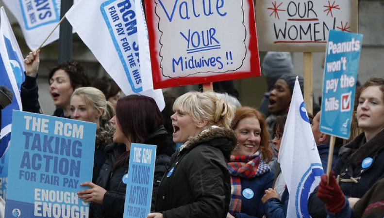 Забастовка медиков Великобритании