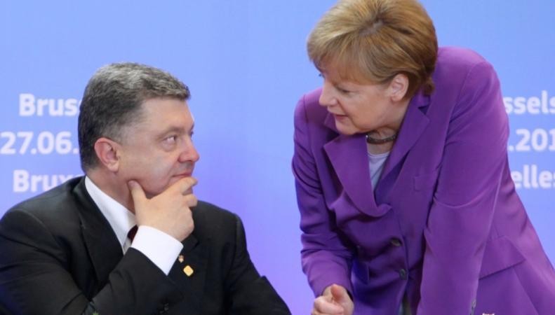 Между Порошенко и Меркель состоялись телефонные переговоры