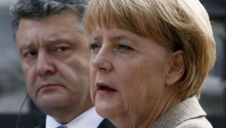 Меркель и Порошенко поддерживают урегулирование украинского конфликта путем переговоров в минском формате, http://anti-maidan.com/