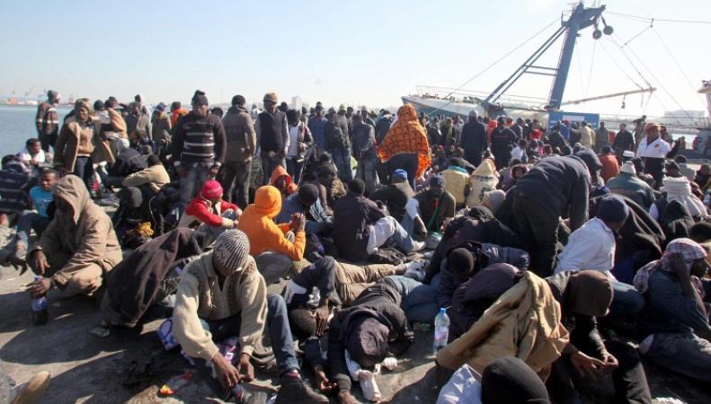 Беженцы из стран Африки