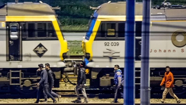 Нелегальные мигранты в Евротуннеле