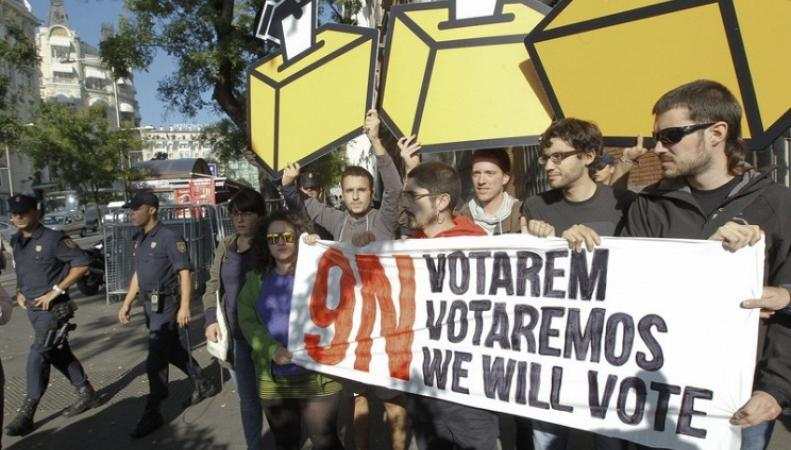Митинг сторонников референдума в Каталонии