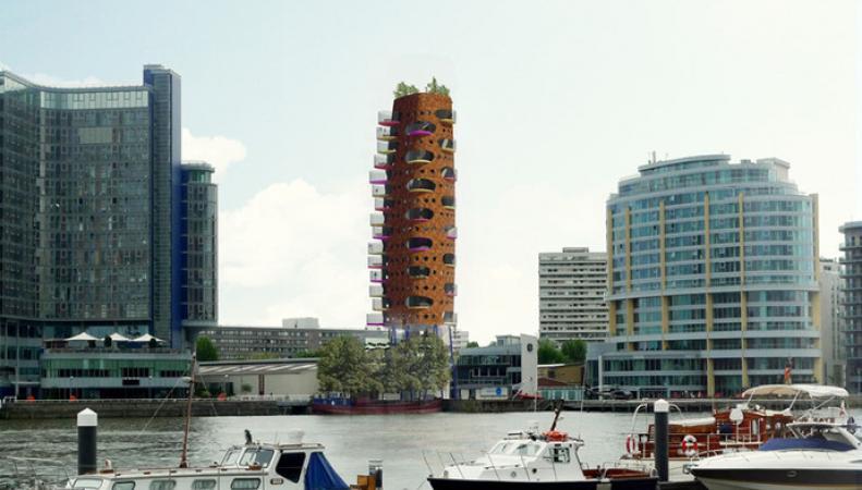"""Новое здание """"морковь"""" в Лондоне"""