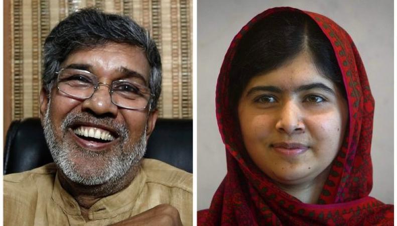 Малала Юсуфзай и Кайлаш Сатъярти