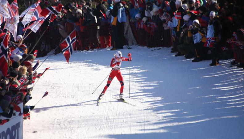 Соревнования лыжников в Норвегии