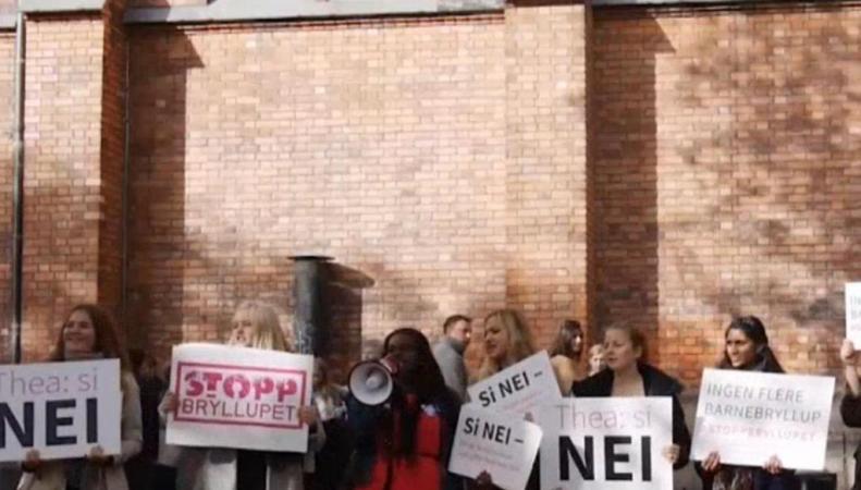 Митинг против свадьбы 12-летней норвежки