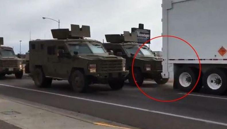 грузовик с ядерной ракетой столкнулся с броневиком