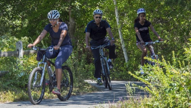 Обама с семьей на отдыхе