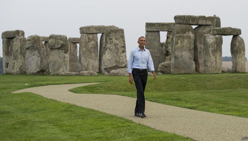 Обама посетил Стоунхендж