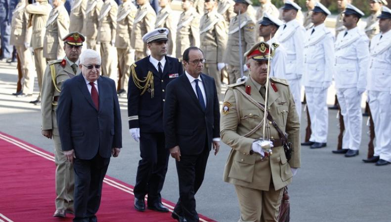 Президент Франции Франсуа Олланд во время визита в Ирак