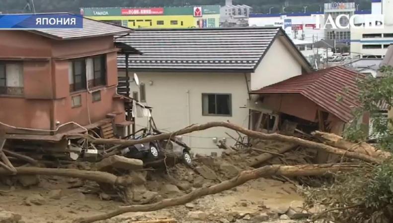 Оползень в Японии