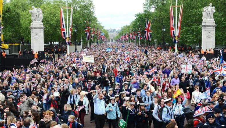 праздничное шествие по Мэлл