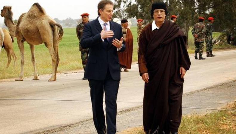 Тони Блэр и Каддафи