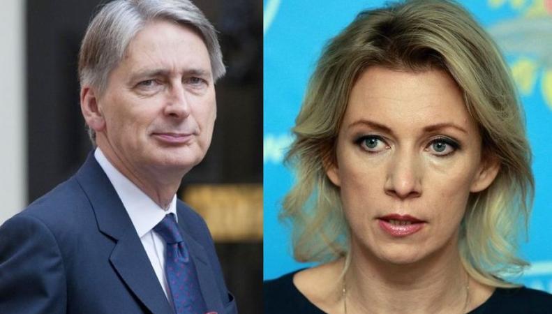 Захарова ответила на критику главы МИД Британии в адрес ВКС России