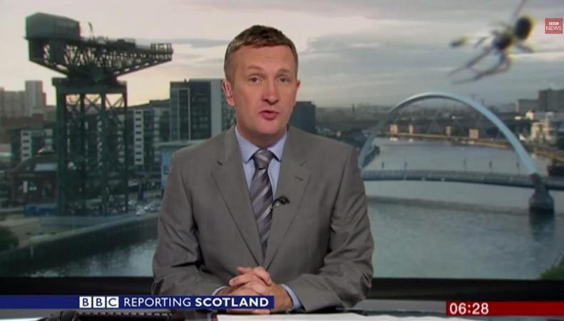 Паук в эфире BBC