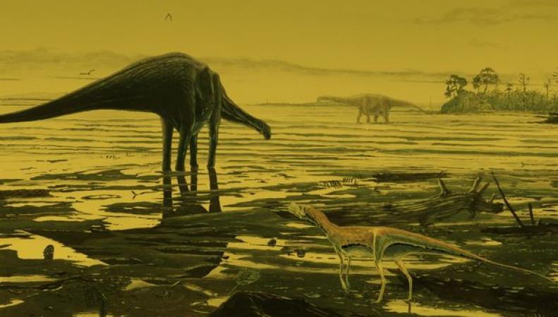 динозавр в Шотландии