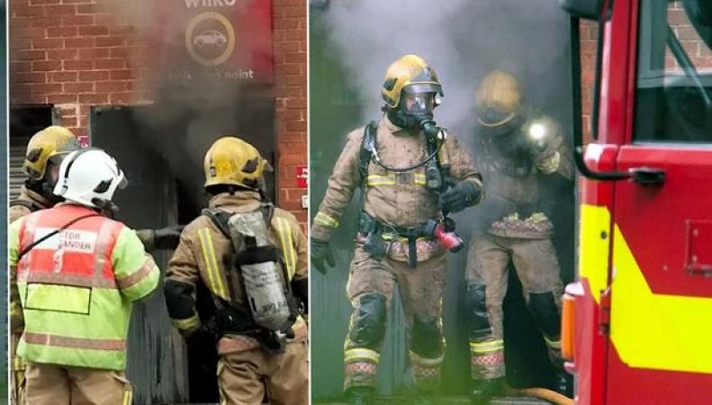 Пожар в магазине Wilko