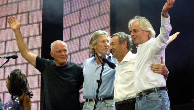 Группу Pink Floyd на благотворительном концерте в 2005 году