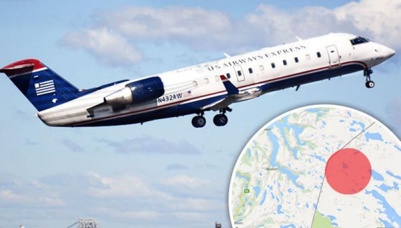 Самолёт, летевший из Лондона, потерпел крушение