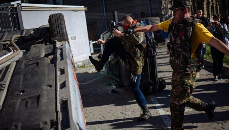 Беспорядки у посольства РФ в Киеве, фото: ИТАР-ТАСС
