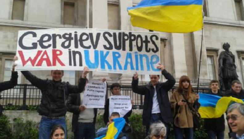Протест против поддержки Гергиевым аннексии Крыма
