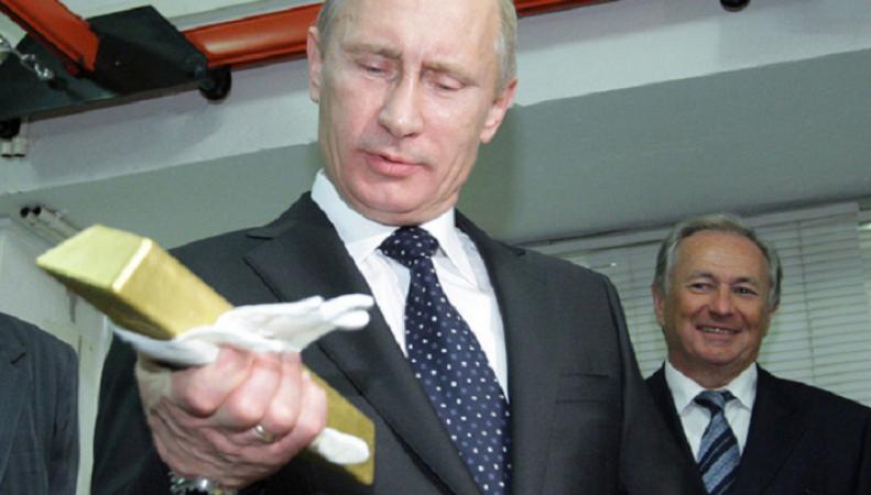 Путин скупает золото, пытаясь решить проблемы своей страны