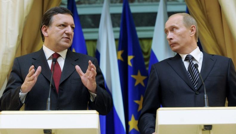 Президент России Владимир Путин и глава Еврокомиссии Жозе Мануэл Баррозу
