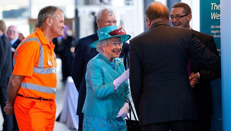 Королева Елизавета в Беркшире