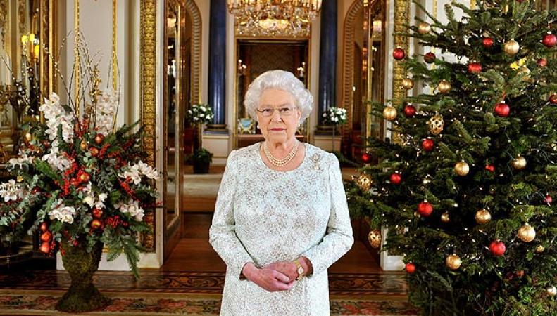 Королева Елизавета II в Рождество