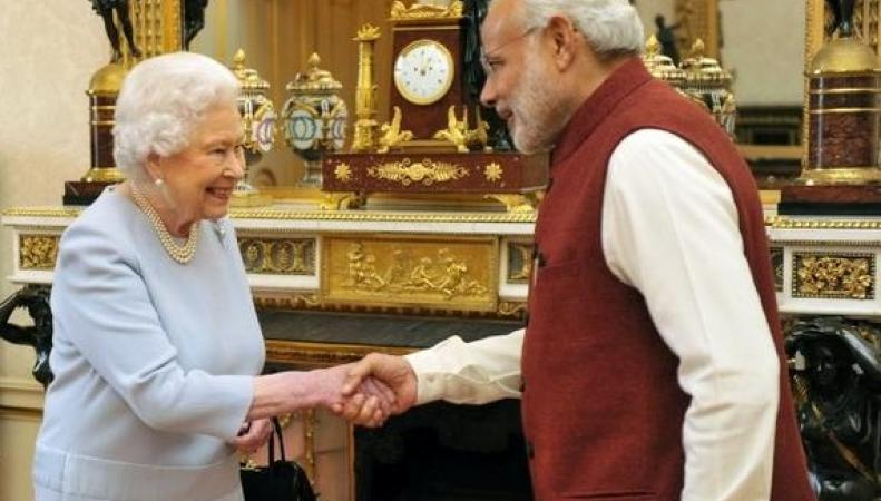 королева Елизавета II и Нарендра Моди