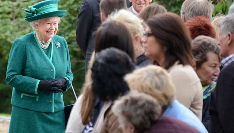 королева Елизавета в Абердиншие