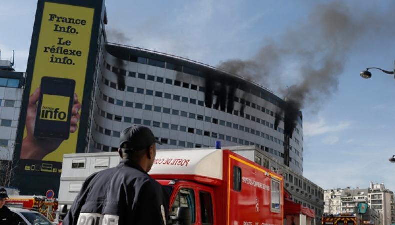 Пожар в Доме Радио в Париже