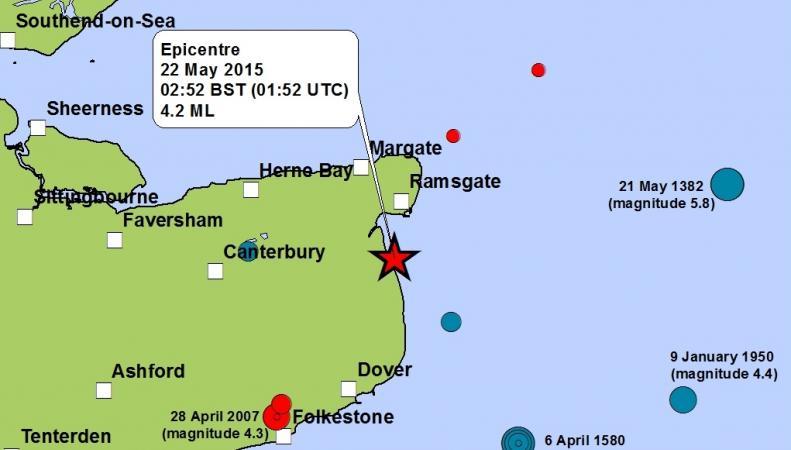 Землетрясение в Кенте