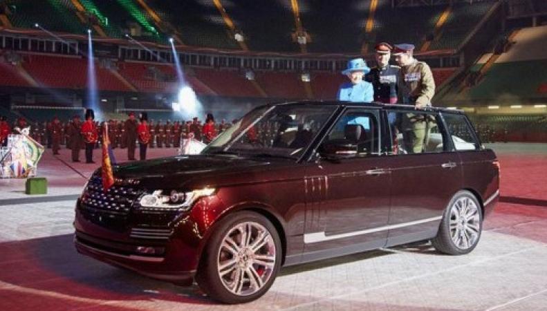 Королева на новом Range Rover
