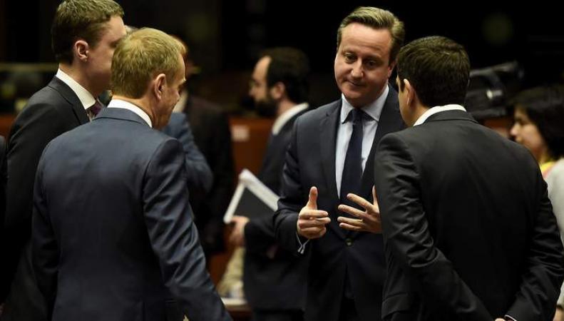 Кэмерон на переговорах в Брюсселе